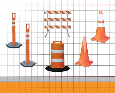Barricade and Traffic Cone Safety Lights