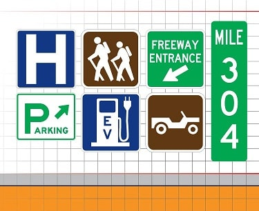 Recreational and Cultural Interest Area Signs