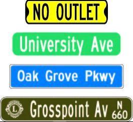 "9"" Street Signs 9-Inss"
