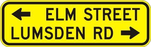 Advance St Names (2 streets) W16-8A