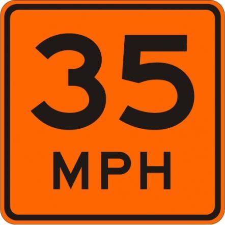 Advisory Speed Limit W13-1-O