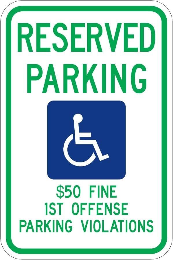 Alabama Handicap Parking Sign R7-8 al