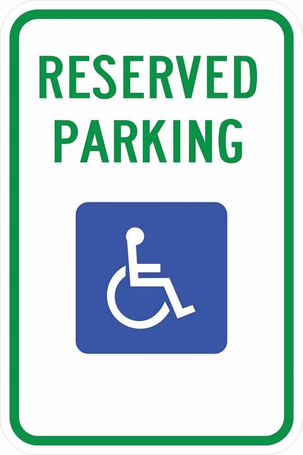 Alaska Handicap Parking Sign R7-8 ak