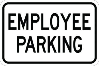 Employee Parking AR-103 Sign