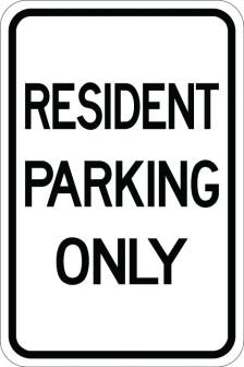 Resident Parking Only Sign AR-136