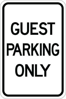Guest Parking Only AR-139
