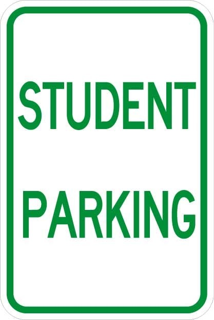 Student Parking Signs AR-149