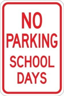 No Parking School Days