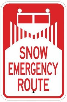 Traffic Signs Ar 237 Snow Emergency Route Sign Road Signs