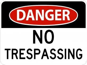 AR-245 Danger No Trespassing Signs