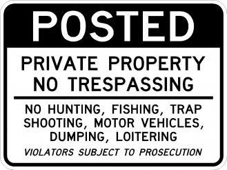 AR-246 Private Property No Trespassing Signs