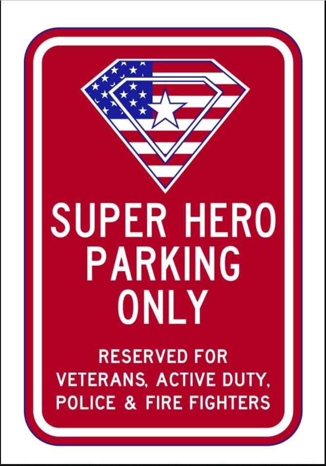 Super Hero Parking Only Sign AR-734