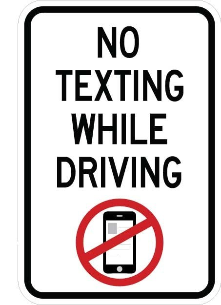 No Texting While Driving Sign AR-752
