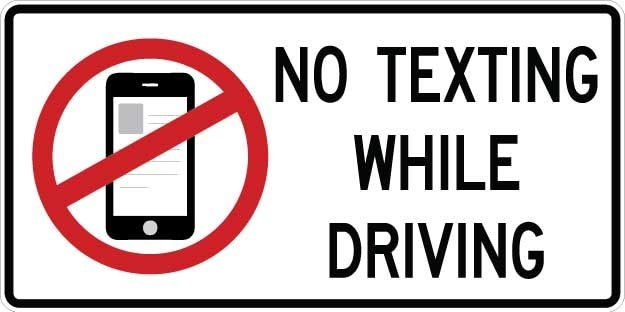 No Texting While Driving Sign AR-753