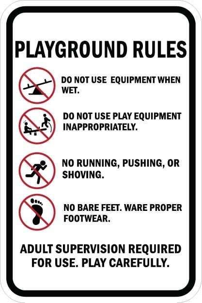 Playground Rules Sign AR-772