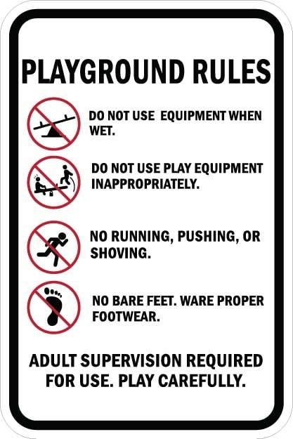 Playground Rules Sign AR-772