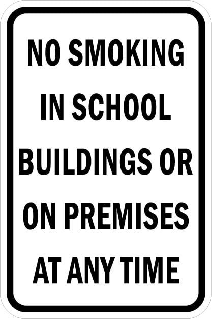 No Smoking in School Signs AR-774