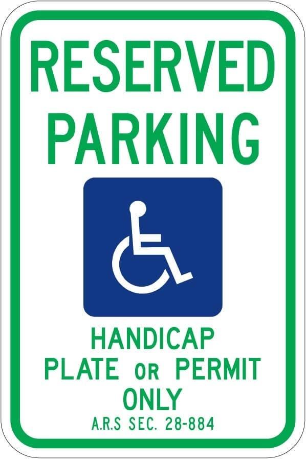 Arizona Handicap Parking Sign R7-8 az