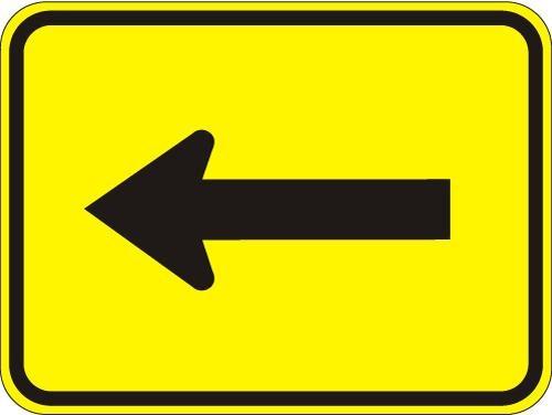 Arrow (plaque) Sign W16-5PL