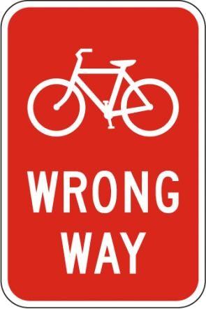 Bicycle Wrong Way R5-1b