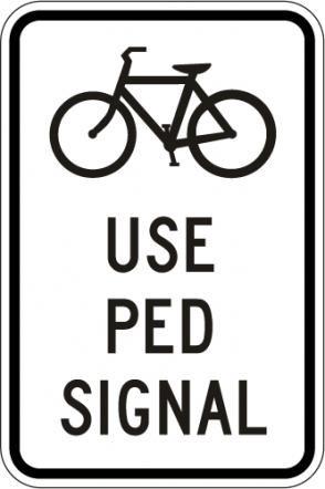 Bikes Use Peds Signal R9-5