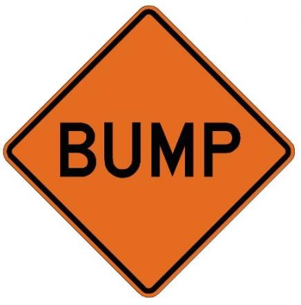 Bump Roll-Up Construction Signs W8-1-RU