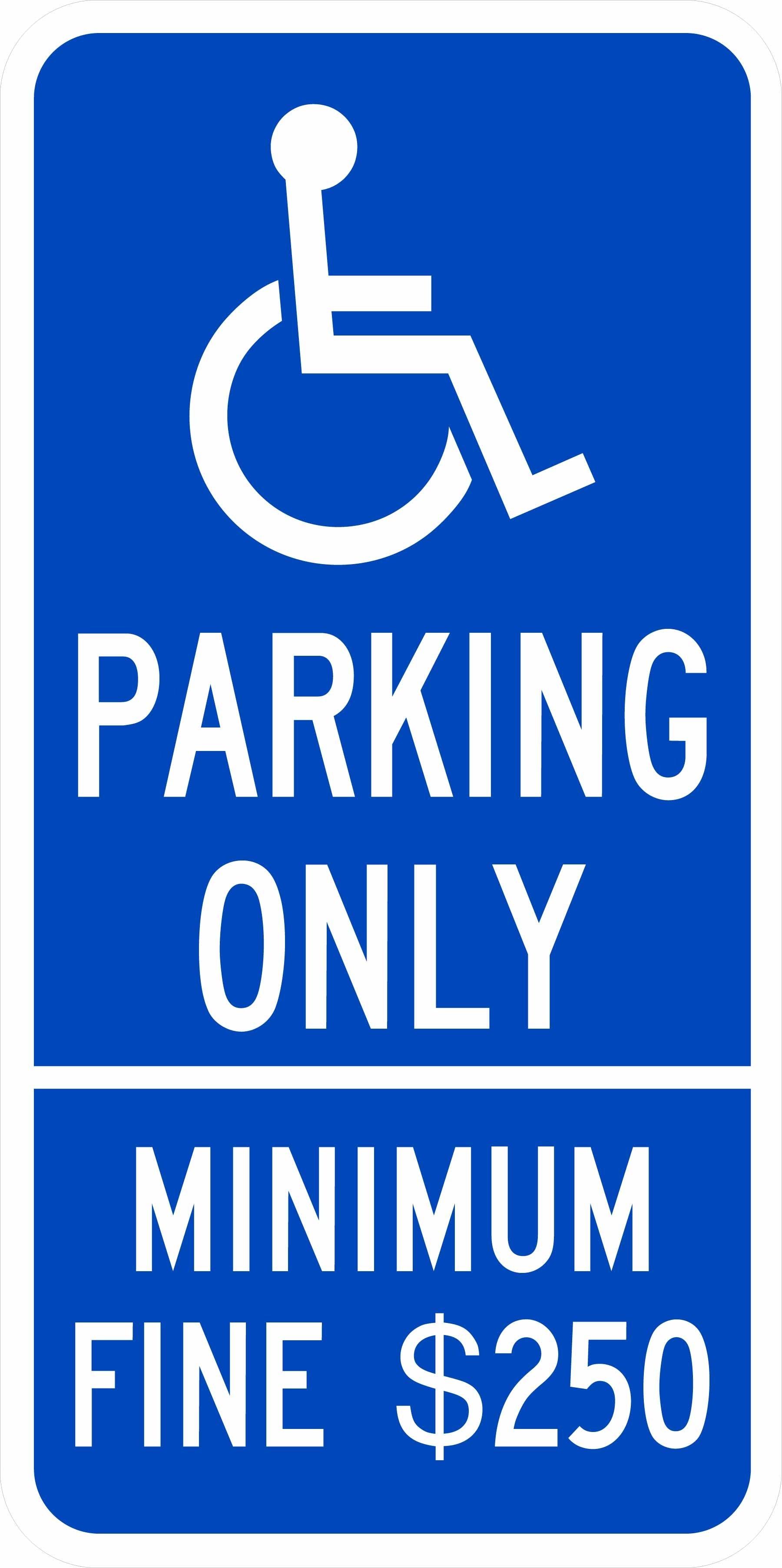 California Handicap Parking Sign R99C