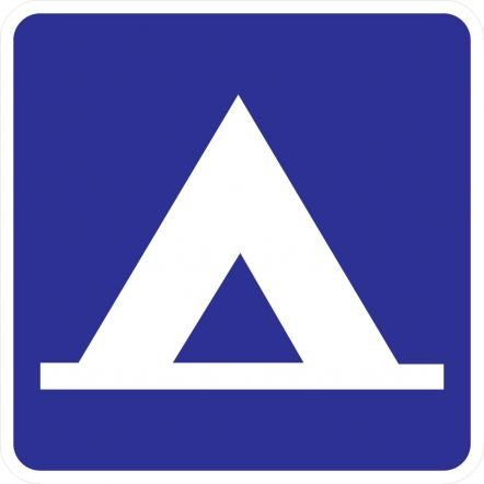 Camping Symbol Guide Sign D9-3