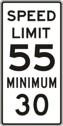 Combined Speed Limit R2-4a