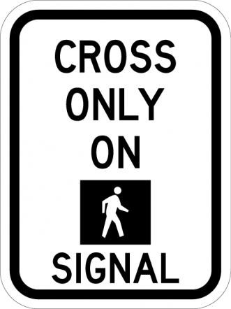 Cross Only On Signal R10-2a