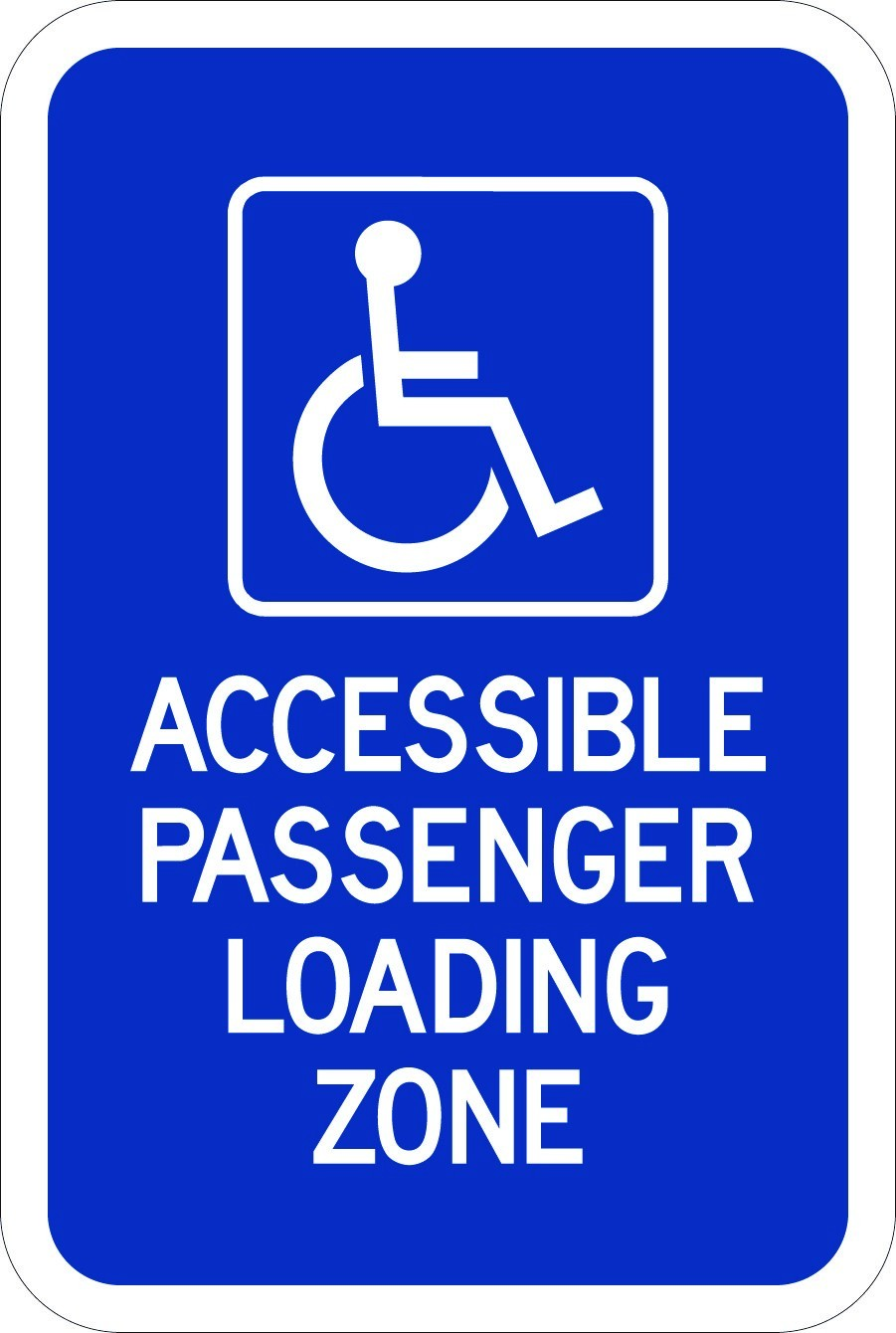 Accessible Passenger Loading Zone Sign AR-731