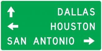D1-3 Destination Signs With Three Destinations