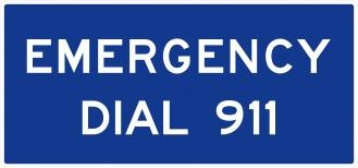 D12-4 Emergency Dial 911 Signs