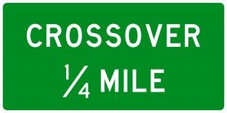 D13-2 Crossover Signs With Distance