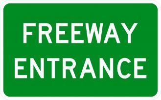 D13-3 Freeway Entrance Signs