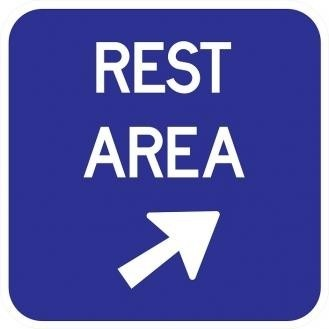 D5-2b Rest Area Signs With Arrow