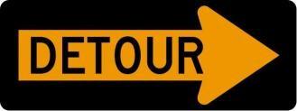Detour Arrow Right Signs M4-10R