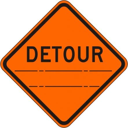Detour (distance) Sign W20-2