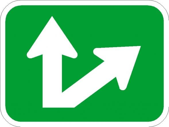 Diagonal/Straight Bike Signs M7-7