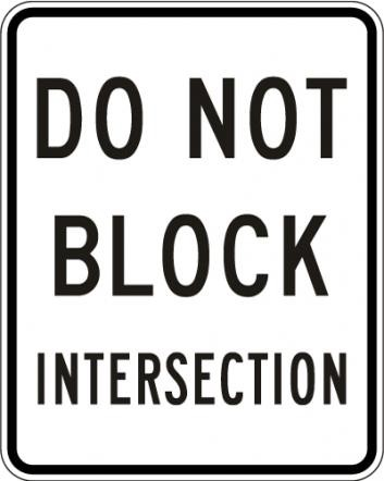 Do Not Block Intersection R10-7