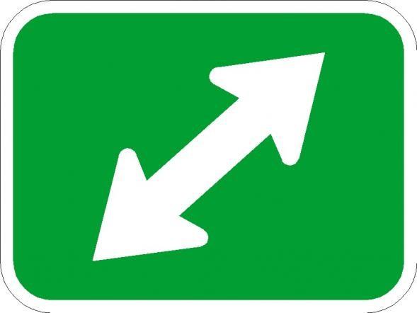 Double Diagonal Bike Signs M7-3