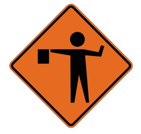 Flagger Symbol Roll-Up Construction Signs W20-7a-RU