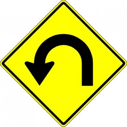 Hairpin Curve Signs W1-11L