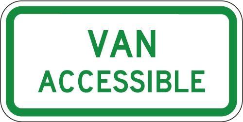 Handicapped Van Accessible R7-8a