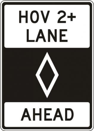 R3 2 Sign >> Traffic Signs Hov Lane Ahead Sign R3 12 Road Signs