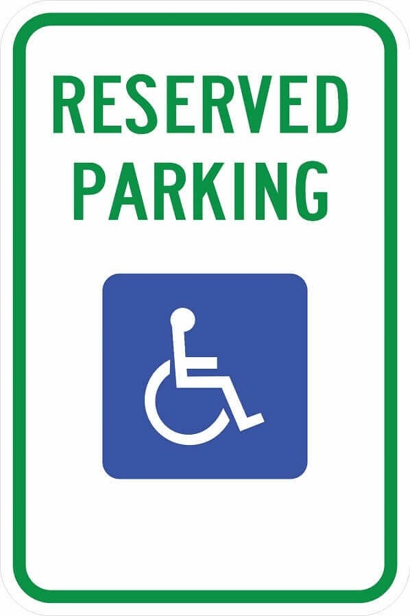 Indiana Handicap Parking Sign R7-8 in