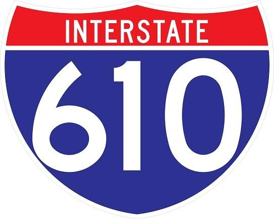 Interstate Route Sign 3 Digits M1-1W