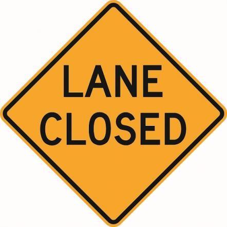 Lane Closed Sign W9-3