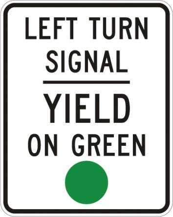 Left Turn Yield on Green R10-21