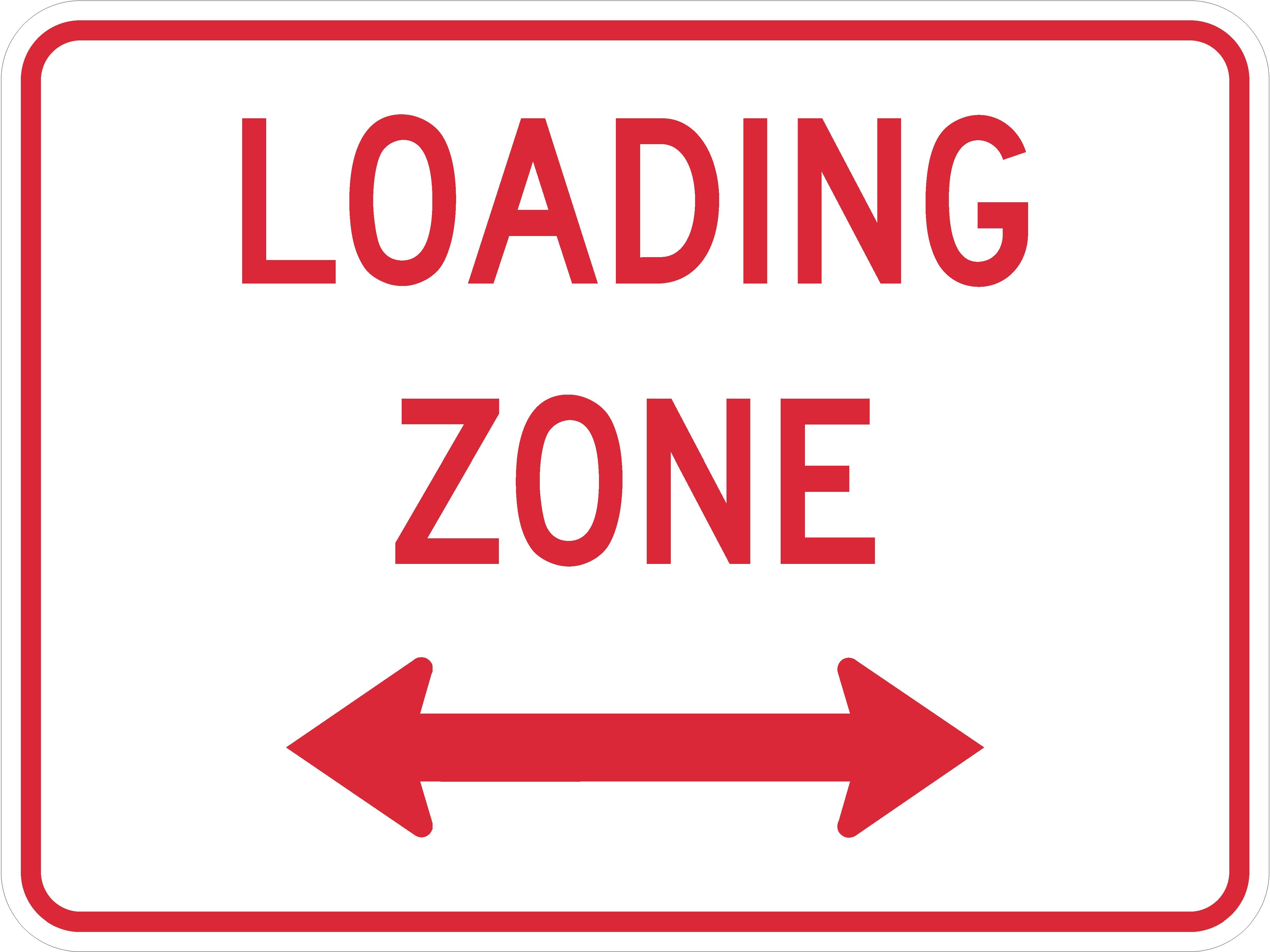Loading Zone (plaque) R8-3gP